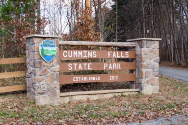 Cummins Falls State Park - Entrance sign