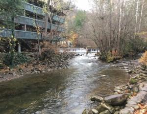 Gatlinburg - Small falls/rapids behind hotel