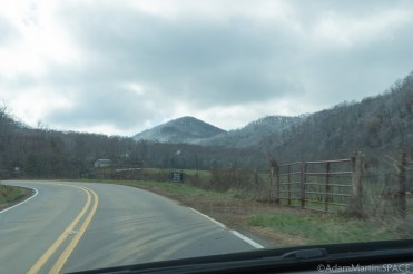 Max Patch Mountain - Driving back roads towards our destination