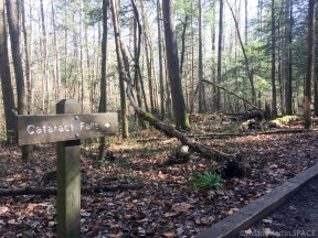 Cataract Falls - Trail sign