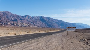 Death Valley - Sign near the start of Artists Drive loop