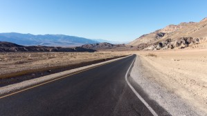 Death Valley - Looking down the road on Artists Drive