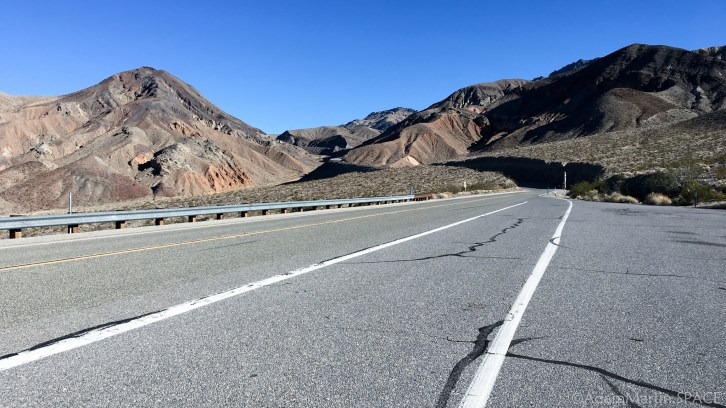 Death Valley - Heading into the mountains towards Panamint Springs