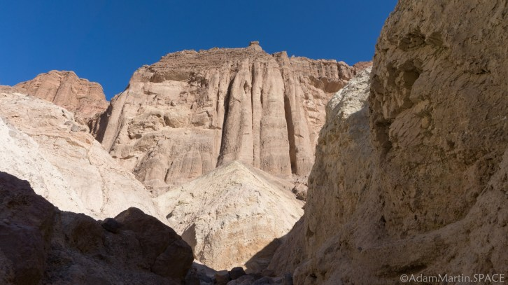 Death Valley - Cliffs near Red Cathedral on the Golden Canyon trail