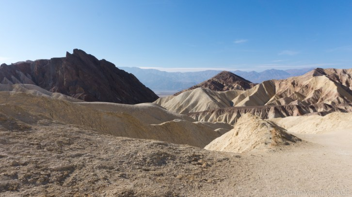 Death Valley - View down Golden Canyon near base of Manly Beacon