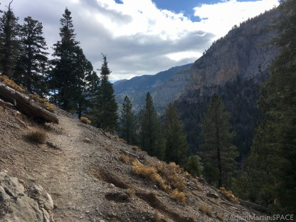 Mount Charleston - Mary Jane Falls trail near the edge close to the top