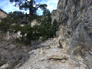 Mount Charleston - Mary Jane Falls trail getting more difficult near the top