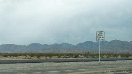 Mount Charleston - Ominous clouds on the drive in