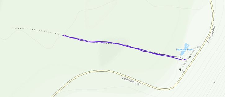 GaiaGPS hiking data @ Death Valley - Badwater Basin