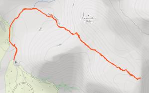 GaiaGPS hiking data @ Red Rock Canyon - Calico Tanks