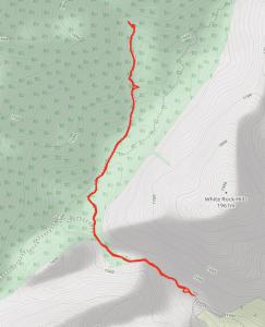 GaiaGPS hiking data @ Red Rock Canyon - La Madre Spring