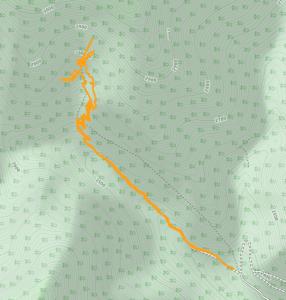 GaiaGPS hiking data @ Mount Charleston - Mary Jane Falls
