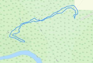 GaiaGPS hiking data @ Potato River Falls Lower