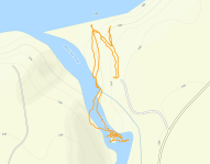 GaiaGPS hiking data @ Superior Falls