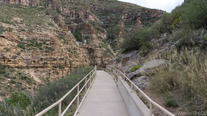 Sitting Bull Falls - Paved Path to the Falls