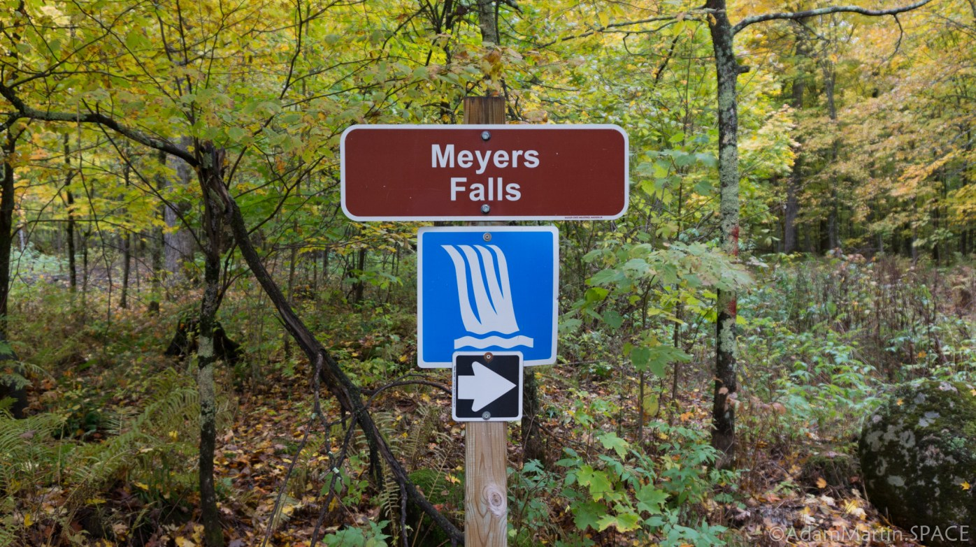 Meyers Falls - Trail Sign