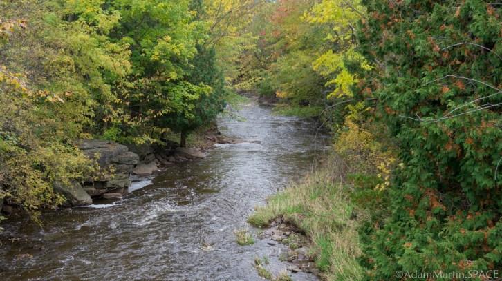 Neshota River views downstream of Natchwey Falls