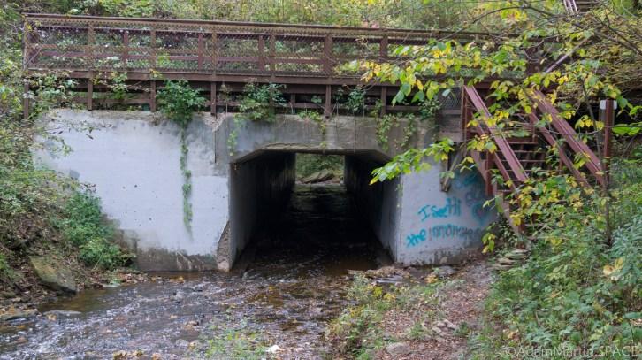 Wequiock Falls - Creek drain tunnel