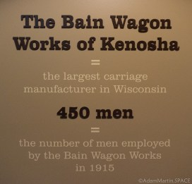 Old Wade House - Bain Wagon Works statistic on wall