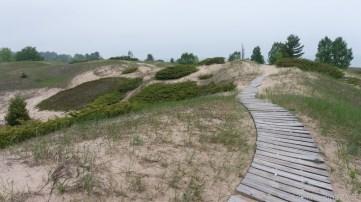 Kohler-Andrae State Park - Cordwalk winding through dunes on north section