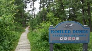 Kohler-Andrae State Park - Cordwalk trail sign