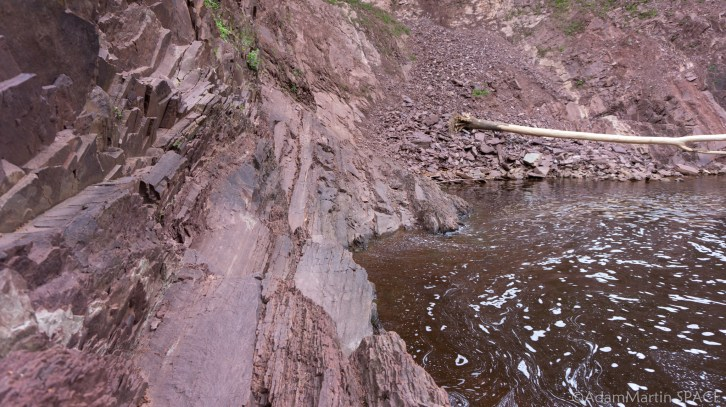Superior Falls - Rock cliff face near the falls