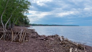 Superior Falls - View of Lake Superior at the Montreal River terminal