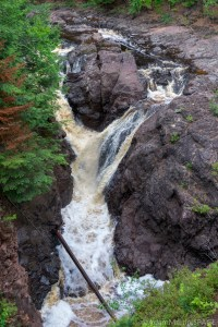 Copper Falls State Park - Copper Falls view from east Doughboys Trail