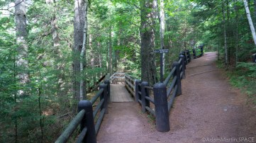 Copper Falls State Park - Viewing platforms near Tyler Forks Falls/Dells