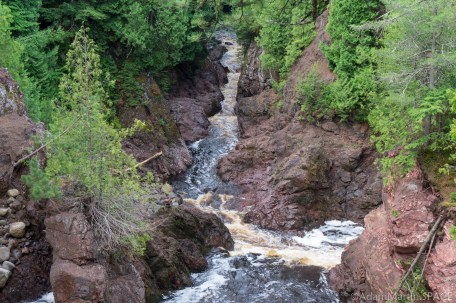 Copper Falls State Park - Brownstone Falls view from above
