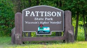 Pattison State Park - Entrance sign