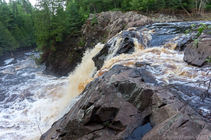 Pattison State Park - Side view from top edge of Little Manitou Falls