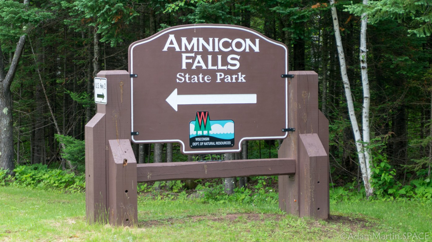 Amnicon Falls State Park - Entrance Sign