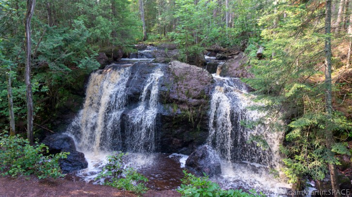 Amnicon Falls State Park - Now and Then Falls