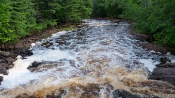 Amnicon Falls State Park - View downstream of Amnicon River near main entrance road