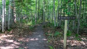 Lost Creek Falls - Trail distance marker