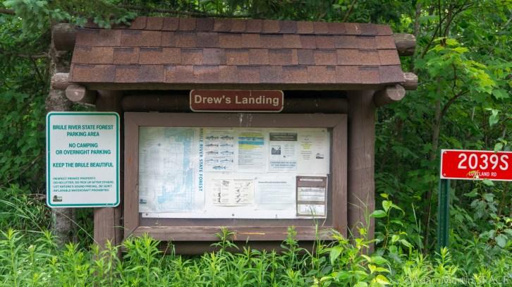 Shale Falls (Failed) - Drew's Landing sign