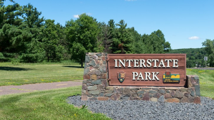 Interstate State Park - Entrance Sign
