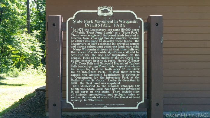 Interstate State Park - Historical marker sign