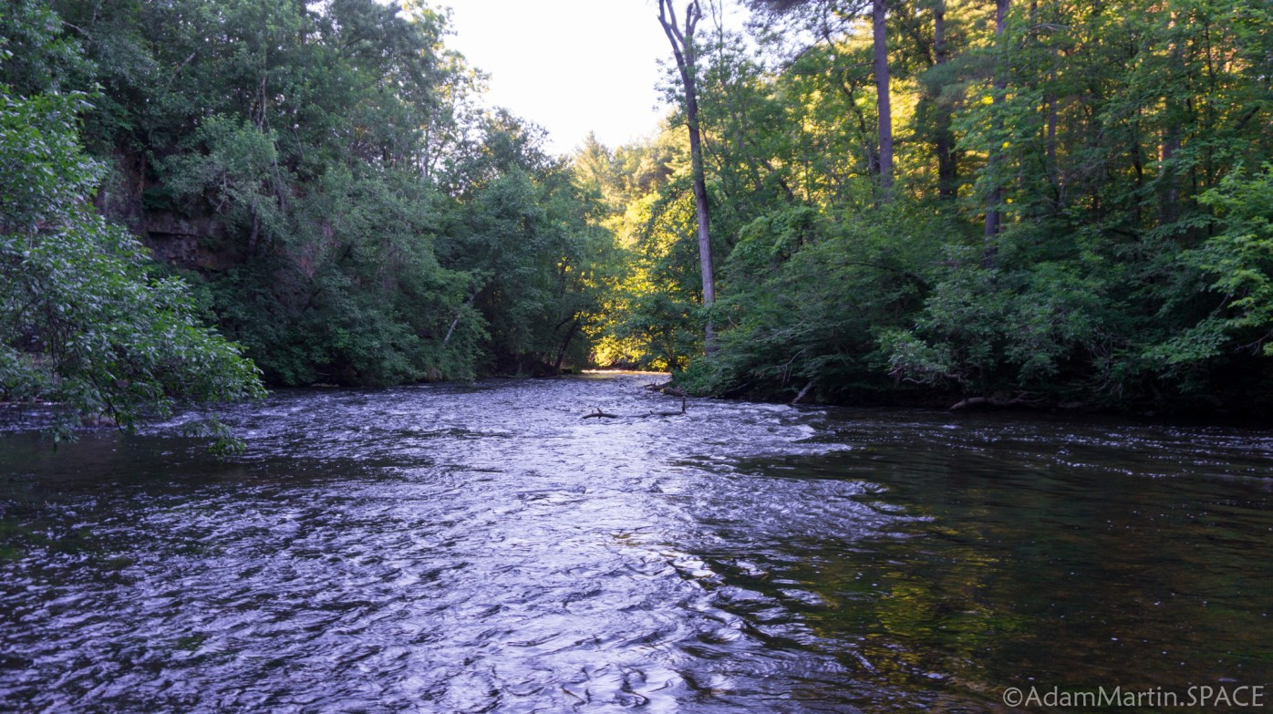Apple River downstream from Pike Hole Rapids