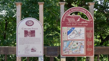 Cascade Falls info signs
