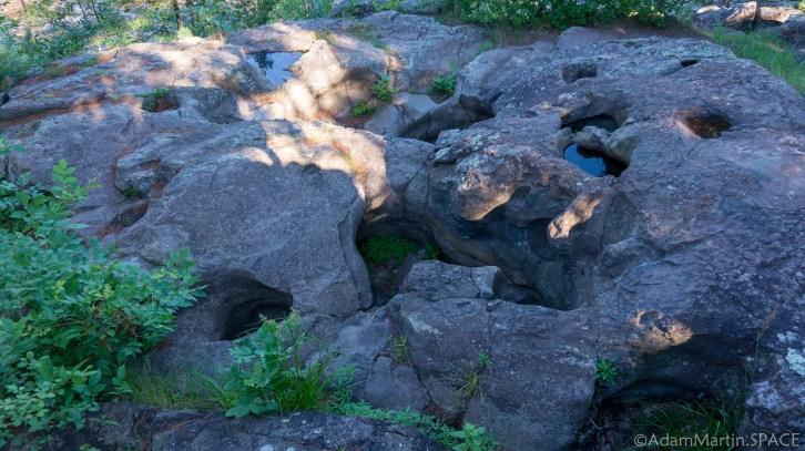 "Interstate State Park - ""Potholes"" on the Pothole Trail show evidence of glaciation"