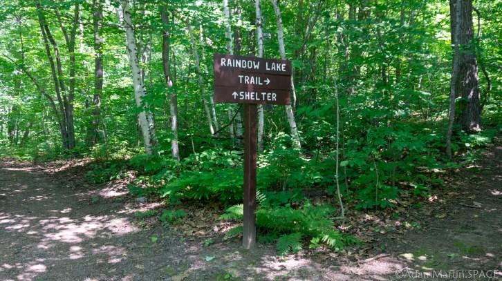 Straight Lake State Park - Rainbow Lake Loop trail sign