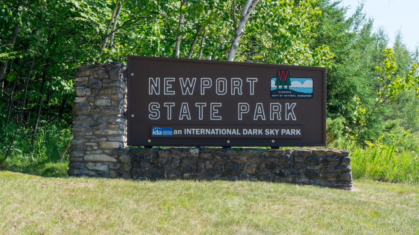 Newport State Park - Entrance Sign