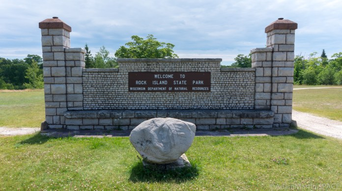Rock Island State Park - Welcome Sign