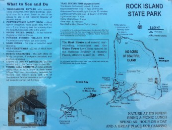 Washington Island - Poster map for Rock Island State Park