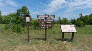 Rock Island State Park - Trail signs near abandoned village