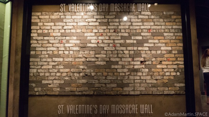 The Mob Museum - Saint Valentine's Day Massacre wall