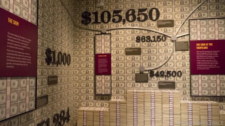 The Mob Museum - Skimming display