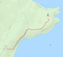 GaiaGPS hiking data @ Newport State Park